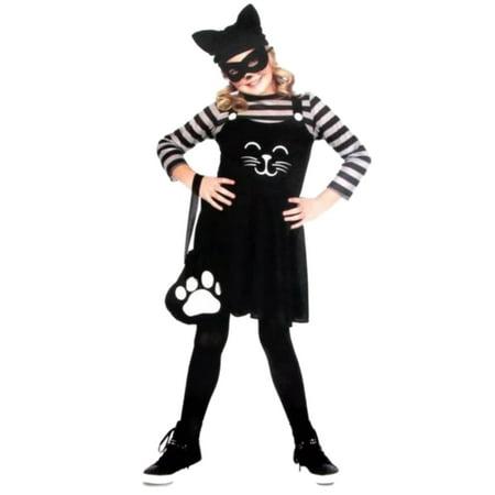 Cat Burglar Halloween Costume (Girls Cat Burglar Child Halloween Costume Hat)