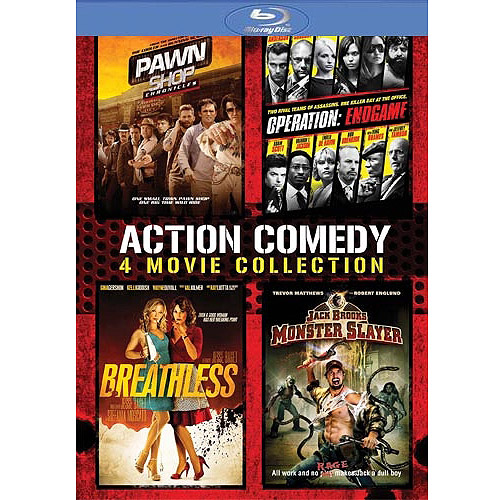 Action Comedy 4-Pack: Pawn Shop Chronicles / Operation: Endgame / Breathless / Jack Brooks: Monster Slayer (Blu-ray) (Widescreen) ANBBR61981