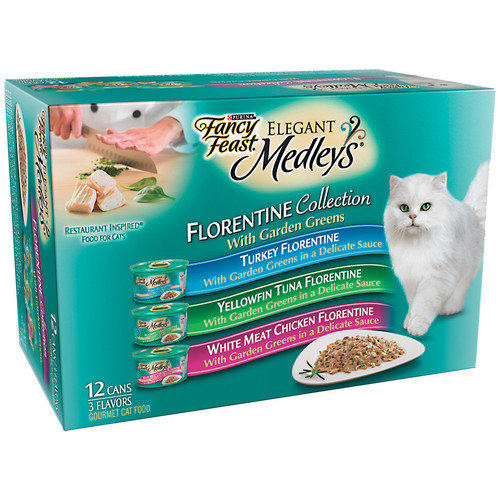 Fancy Feast Elegant Medley Florentine Variety Pack Canned Cat Food (Case of 2)