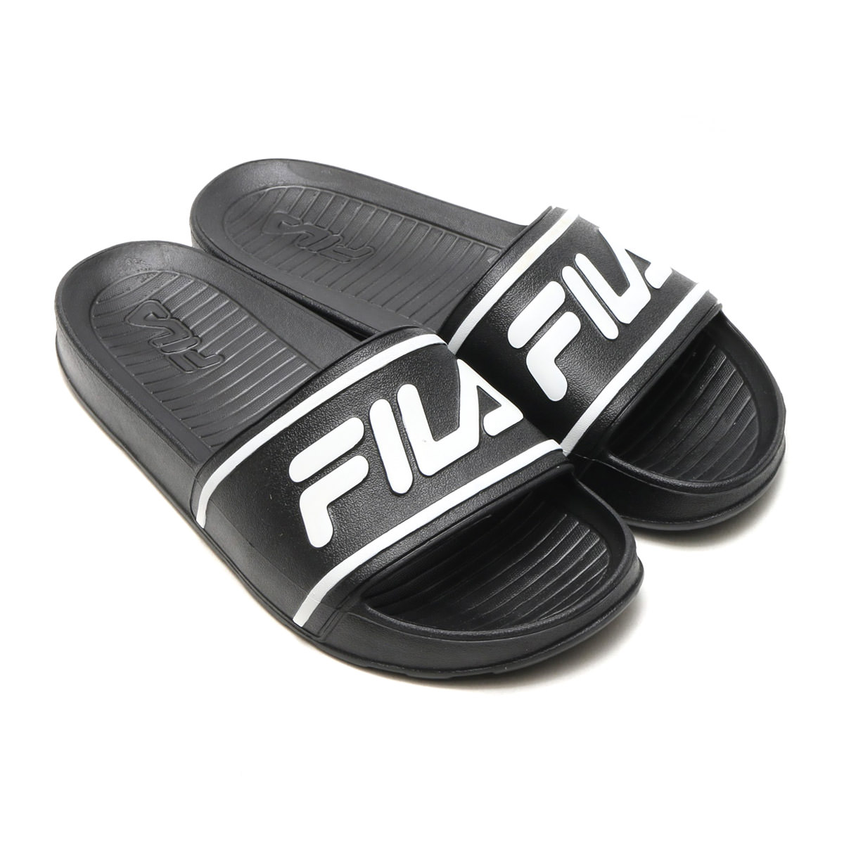 Fila SLEEK SLIDE LT Mens Black Slip On Athletic Sandals by Fila