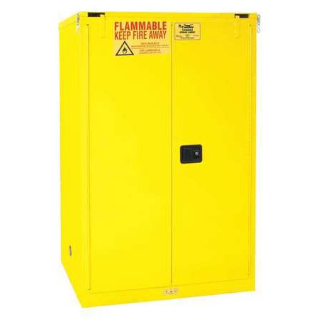 CONDOR 45AE89 Flammable Liquid Safety Cabinet, 90 gal.