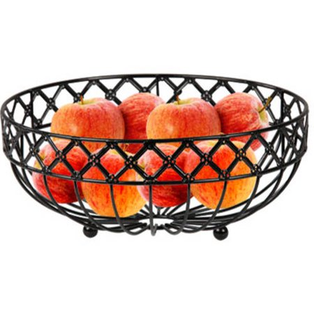 - Home Basics Black Lattice Fruit Basket