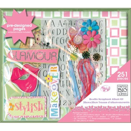 Me My Big Ideas Scrapbook Box Kit So Girly 8inch By 8inch