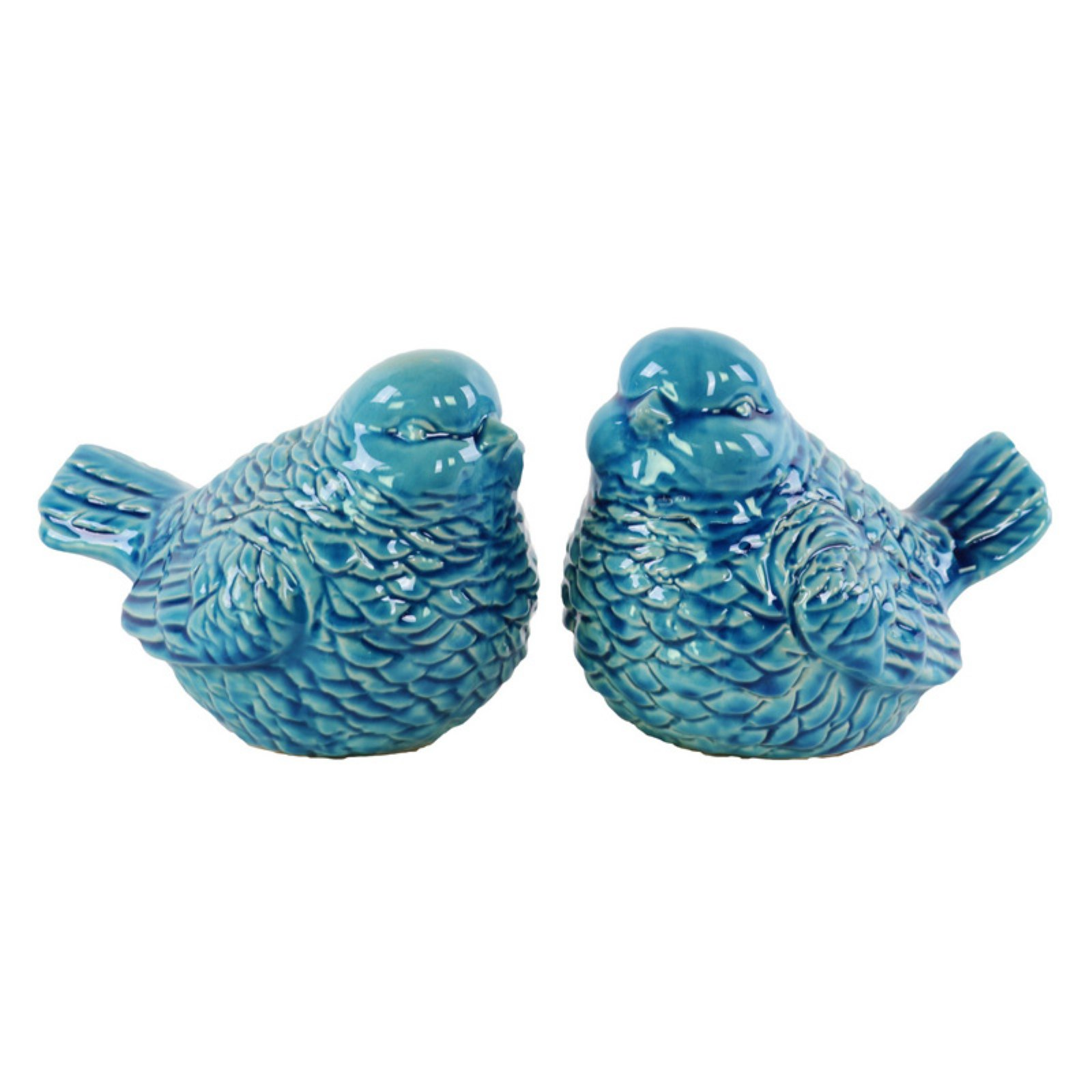Urban Trends Collection: Ceramic Bird Figurine, Gloss Finish, Turquoise