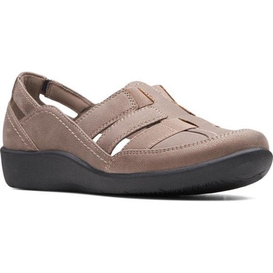 8bba2b700e6b Slip-on Removable OrthoLite footbed with Soleassage Part of the Clarks  Cloudsteppers Collection. Women s Clarks Sillian Stork Slip-On