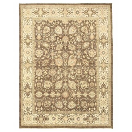 EORC OOAK-9124 8 ft. 11 x 12 ft. Hand Knotted Wool Agra Traditional Oriental Rug, Brown - Rectangle - image 1 of 1