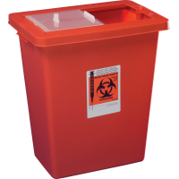 Sharpsafety sharps container with sliding and sealing gasket lid 8 gallon part no. 8980s (10/case)