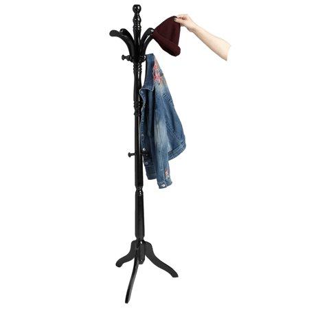 Wavy Coat Rack (Mind Reader 13 Hook Solid Free Standing Wood Coat Rack, Entryway Coat Tree Hat Hanger Umbrella Holder,)