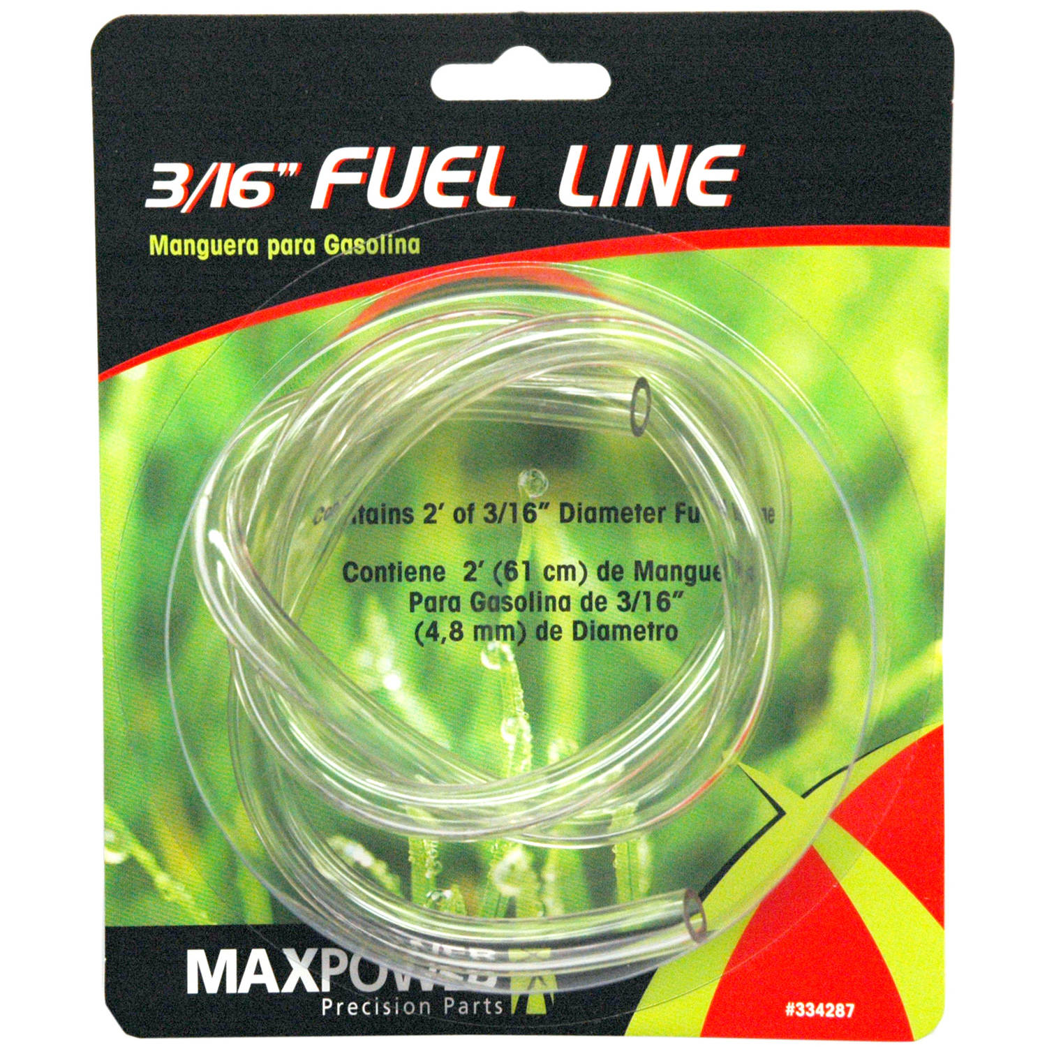 """Maxpower 334287 3/16"""" x 2' Clear Fuel Line"""
