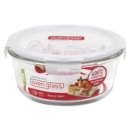 - Lock and Lock Purely Better Glass Round Food Storage Container, 32-Ounce