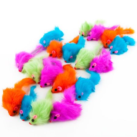 Rainbow Plush Rattling CatNip Mice cat toy, Comes in assorted colors Ship from US..., By Ethical Pet