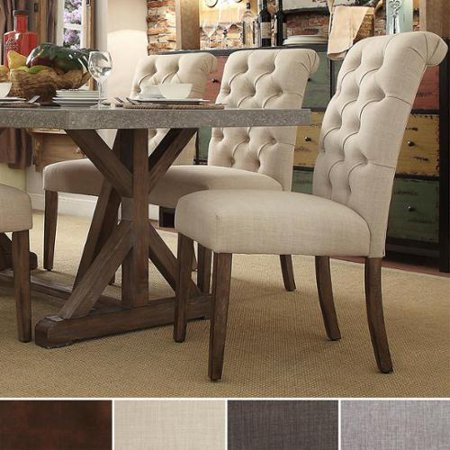 Signal Hills Benchwright Tufted Rolled Back Parsons Chairs