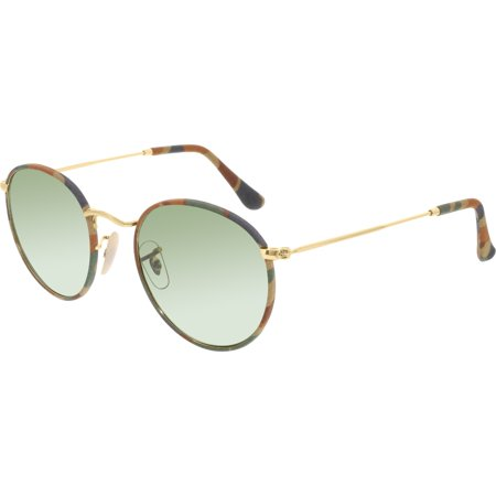 Ray-Ban Women's Round Camouflage RB3447JM-168/4E-50 Gold Round Sunglasses