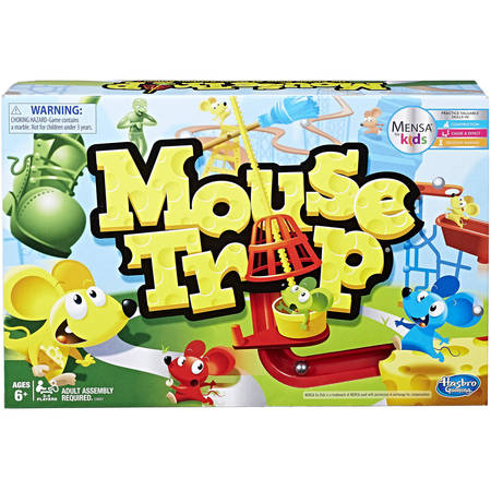 Classic Mouse Trap Family Board Game, for Ages 6 and up