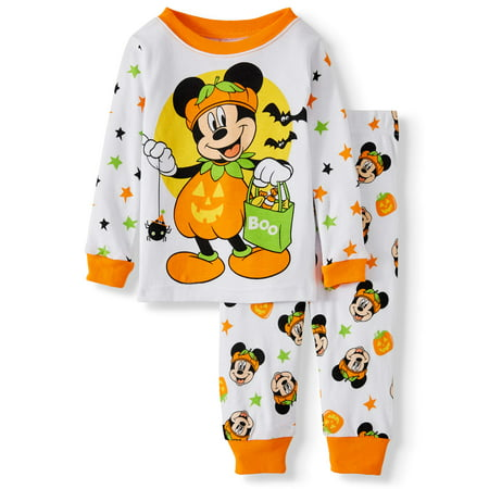 Mickey Mouse Halloween Party Cartoon (Halloween Mickey Mouse Baby Boy Long sleeve Cotton Snug Fit Pajamas, 2-Piece)