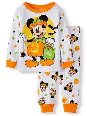 Halloween Mickey Mouse Baby Boy Long sleeve Cotton Snug Fit Pajamas, 2-Piece Set