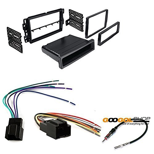 gmc 2007 - 2013 sierra (does not fit 2007 classic or older body styles) car stereo dash install mounting kit wire harness radio antenna