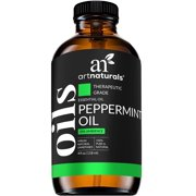 ArtNaturals 100% Pure Peppermint Essential Oil - (4 Fl Oz / 120ml) Premium Therapeutic Grade Mentha Peperita - Fresh Mint for Hair Growth and Skin - Repel Mice and Spiders - Natural Rodent Repellent