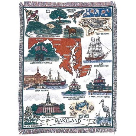 Tapestry Throw Maryland   Land Of Pleasant    Blanket