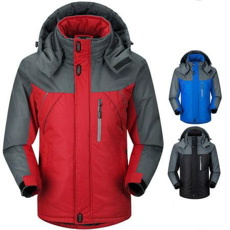 Mens Hoodie Waterproof Jacket Winter Warm Snow Coat Hiking Winter Ski Outdoor Sport Tops Body Warmer 4 Size Billabong Snow Jackets