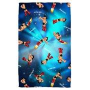 Astro Boy Pattern Beach Towel White 36X58