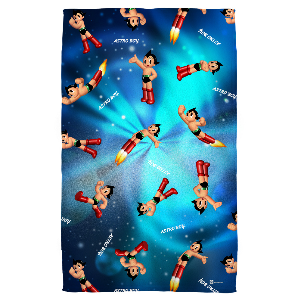 Astro Boy Pattern Beach Towel White 36X58
