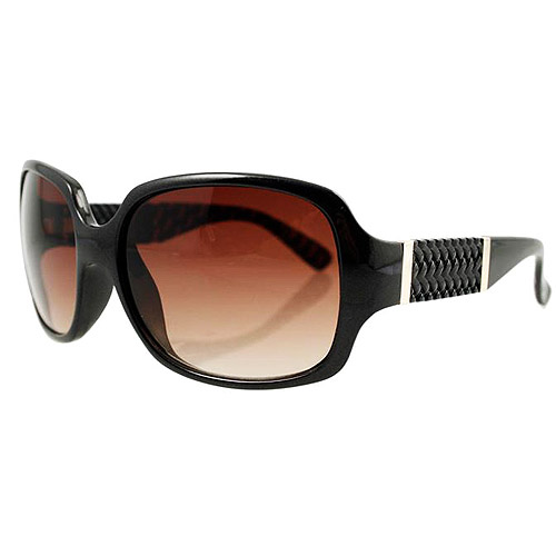 Breast Cancer Awareness Pink Ribbon Women's Sunglasses, Brown Frame with Brown Lenses