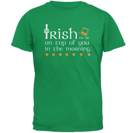 St. Patrick's Day Irish Top Of The Morning Funny Pun Mens T Shirt