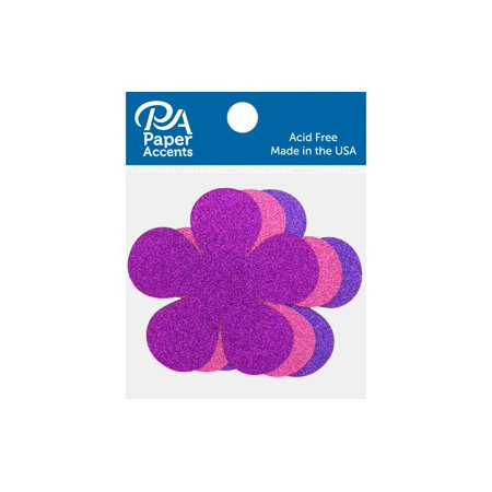 Glitter Shape 8pc Flower Power Rose,Grape,Purple - Flower Glitter