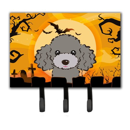 Halloween Silver Gray Poodle Leash or Key Holder BB1817TH68 - Halloween 1817