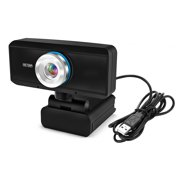 HD Webcam 720P Web Cam 360 Degree Rotating PC Camera Video Call Recording with Noise Reduction Microphone for PC