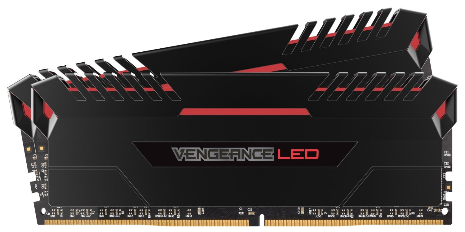 Corsair Vengeance LED 16GB (2 x 8GB) 288-Pin DDR4 SDRAM 3000 (PC4 24000) Memory CMU16GX4M2C3000C15R