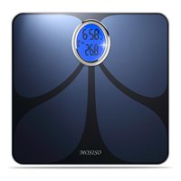 Mosiso - Bluetooth Smart Connected Body Fat Scale with Large Backlit LCD, Smart Body Analyzer, Measures 8 Parameters with FREE App for iPhone, iPad, iPod and Android Smart Phones and Tablets, Blue