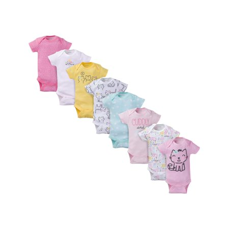 Onesies For Teenage Girls (Onesies Brand Assorted Short Sleeve Bodysuits, 8pk (Baby)