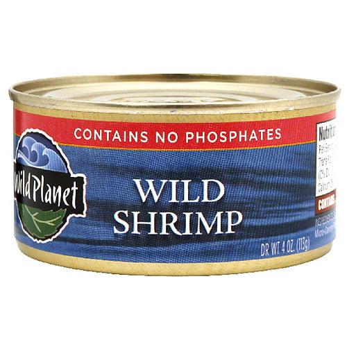 Wild Planet Wild Pink Shrimp, 4 oz, (Pack of 12)