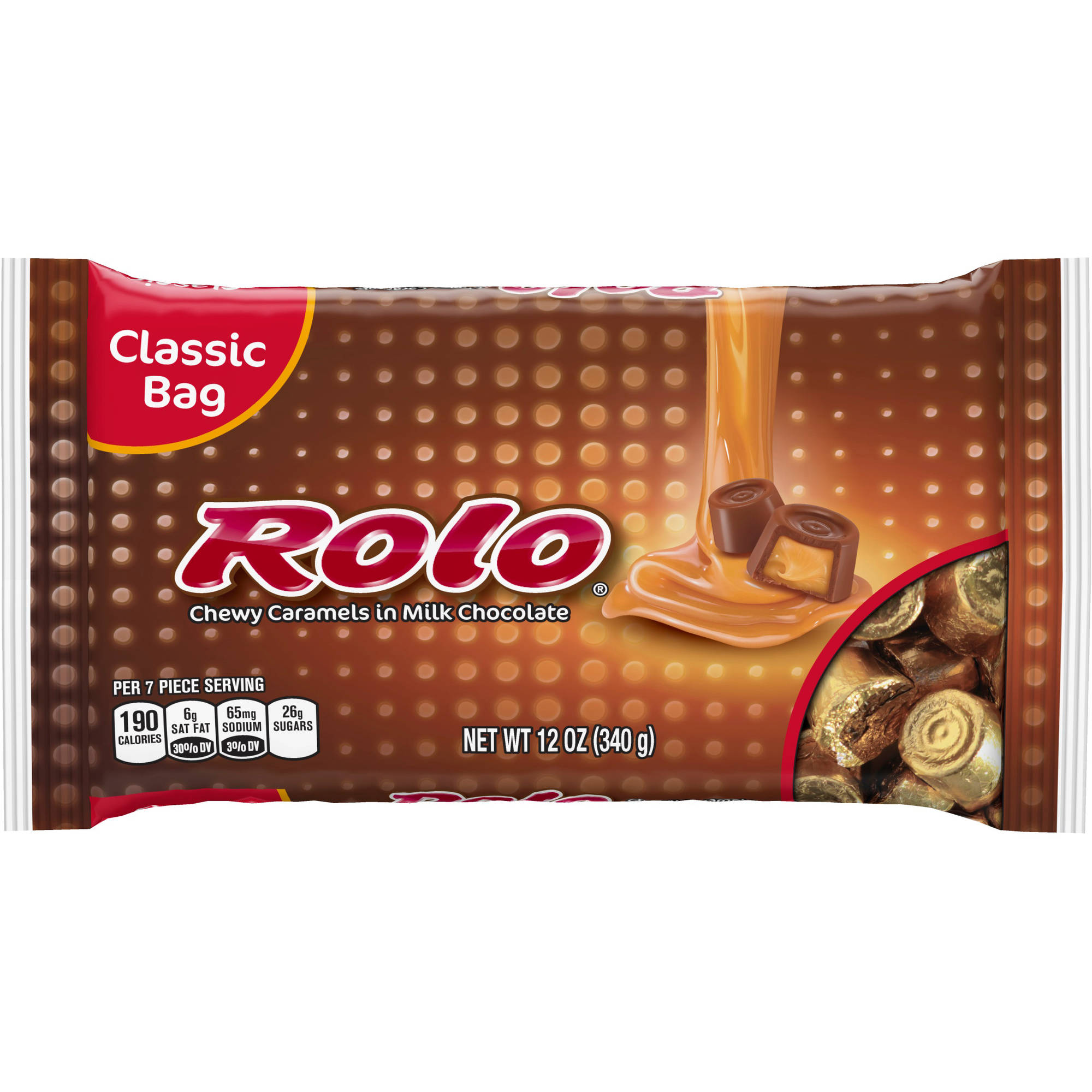 Rolo Chewy Caramels Milk Chocolate, 12 Oz