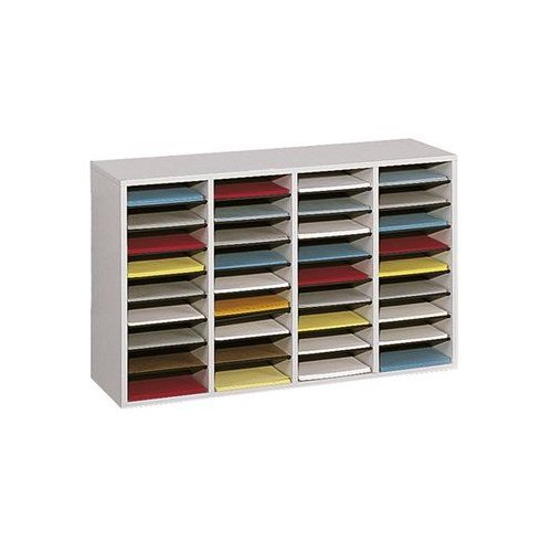 Safco 9424 Wood Adjustable Literature Organizer File Cabinet