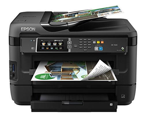 Epson WorkForce WF-7620 Wireless Color All-in-One Inkjet Printer with Scanner and Copier by Epson