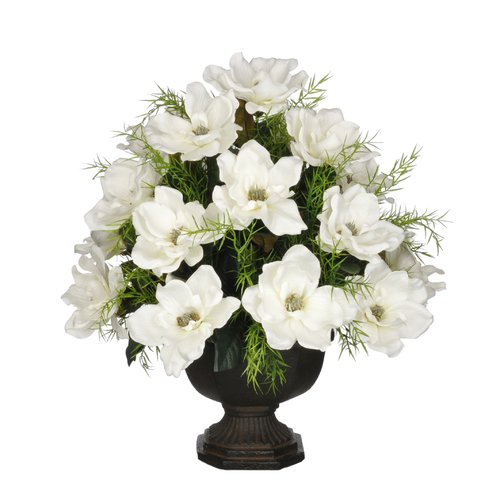 House of Silk Flowers Inc. Artificial Magnolia with Asparagus Fern