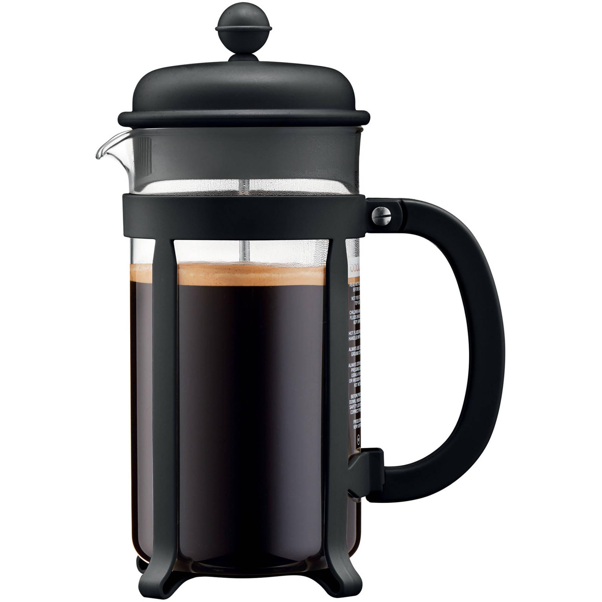 Bodum JAVA French Press Coffee Maker, 8 Cup, 1.0L, 34 oz, Black