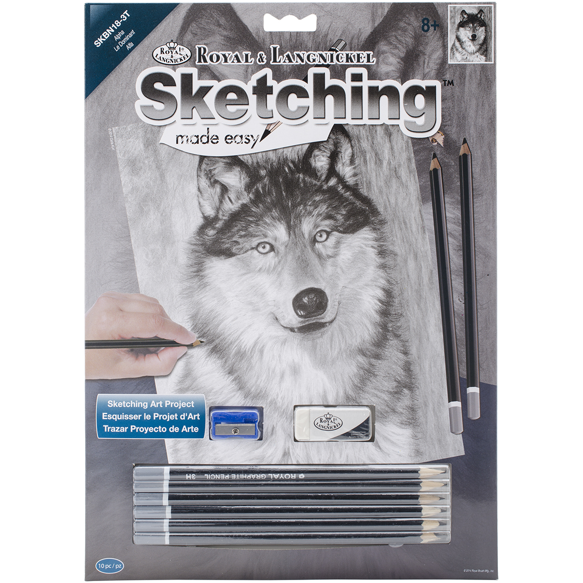 "Sketching Made Easy Kit 9""X12""-Alpha SKBN-18"