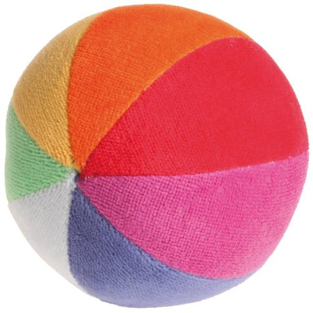 Grimm's Soft Organic Rainbow Ball with Gentle Rattle - First Ball for - Balls For Toddlers