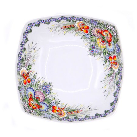Paint Porcelain Jewelry - Entirely Hand painted Porcelain Bowl by SilverRush Style