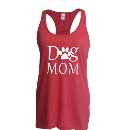 Dog Mom Womens Tops Next Level Racerback Tank - Dog Tank Top