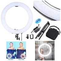 "Yescom 19"" 240pcs LED Ring Light Stand Kit Dimmable 3200-5500K Camera Smartphone Holder Lighting Live Stream Game Webcam Video Photo Makeup"