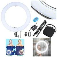 "Yescom 19"" 240pcs LED Ring Light Stand Kit Dimmable 3200-5500K Camera Smartphone Holder Lighting Photo Video Makeup"