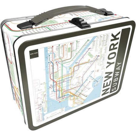 Lunch Box - NY Subway Large Gen 2 Fun Tin Case - Tin Lunch Boxes