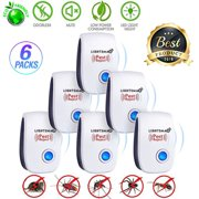 6 PK [2018 NEW UPGRADED] LIGHTSMAX - Ultrasonic Pest Repeller - Electronic Plug -In Pest Control Ultrasonic - Best Repellent for Cockroach Rodents Flies Roaches Ants Mice Spiders Fleas Indoor