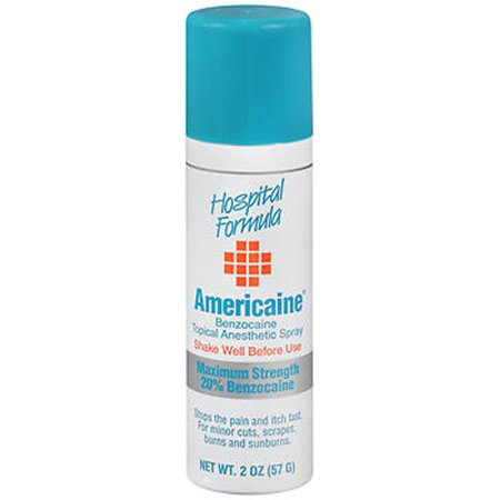 Topical Anesthetic - Americaine Benzocaine Topical Anesthetic Spray 2 fl oz