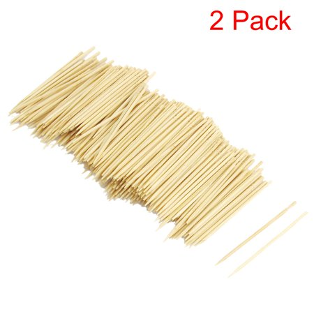 600 Pcs/Pack, 2 Pack, Unique Bargains Home Restaurant Bamboo Toothpicks Catering Cocktail Picks 6.4cm Long - Long Toothpicks